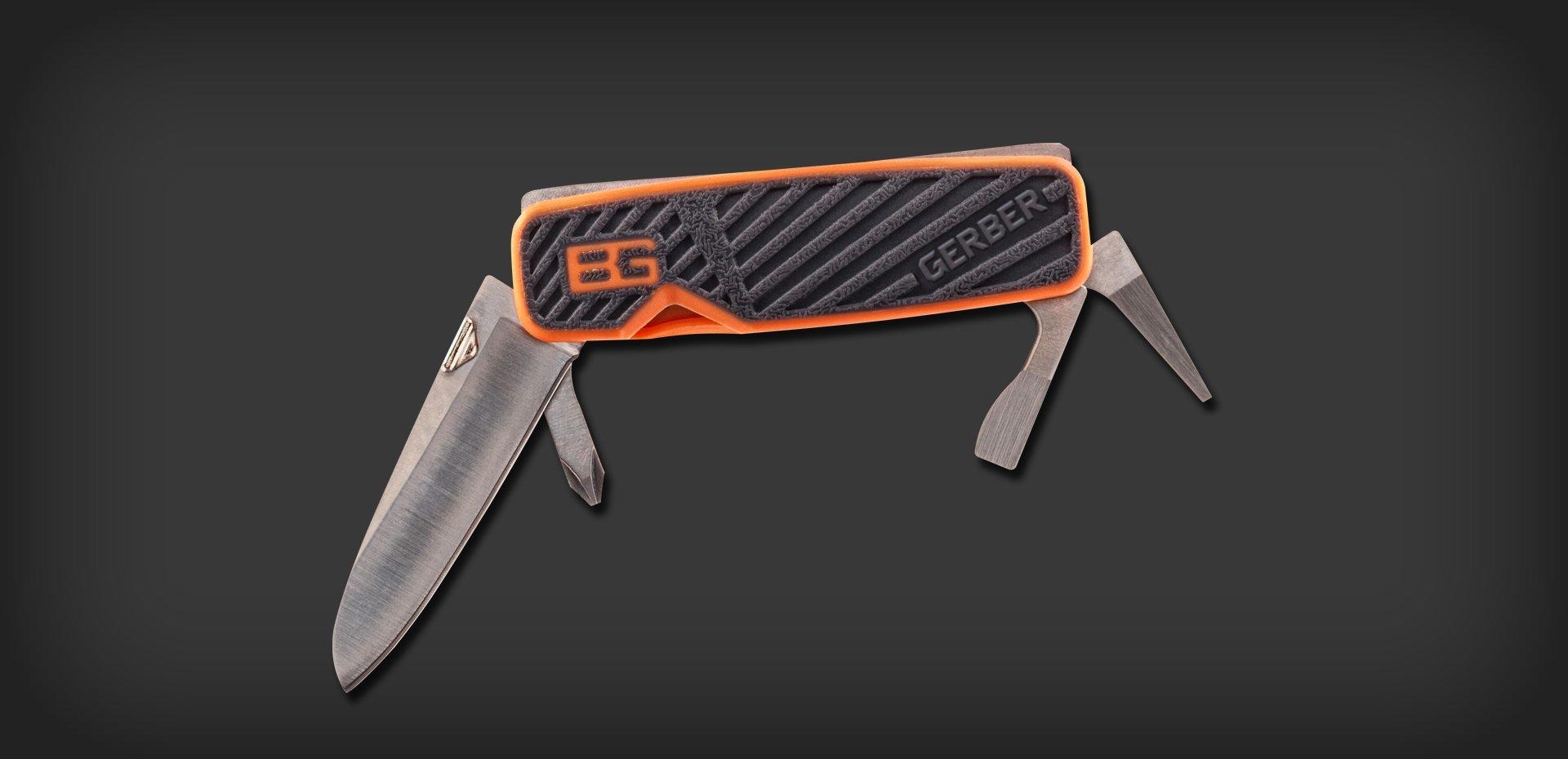 Фото 9 - Мультитул Gerber Bear Grylls Pocket Tool, сталь 5Cr15, прорезиненная рукоять от BearGrylls