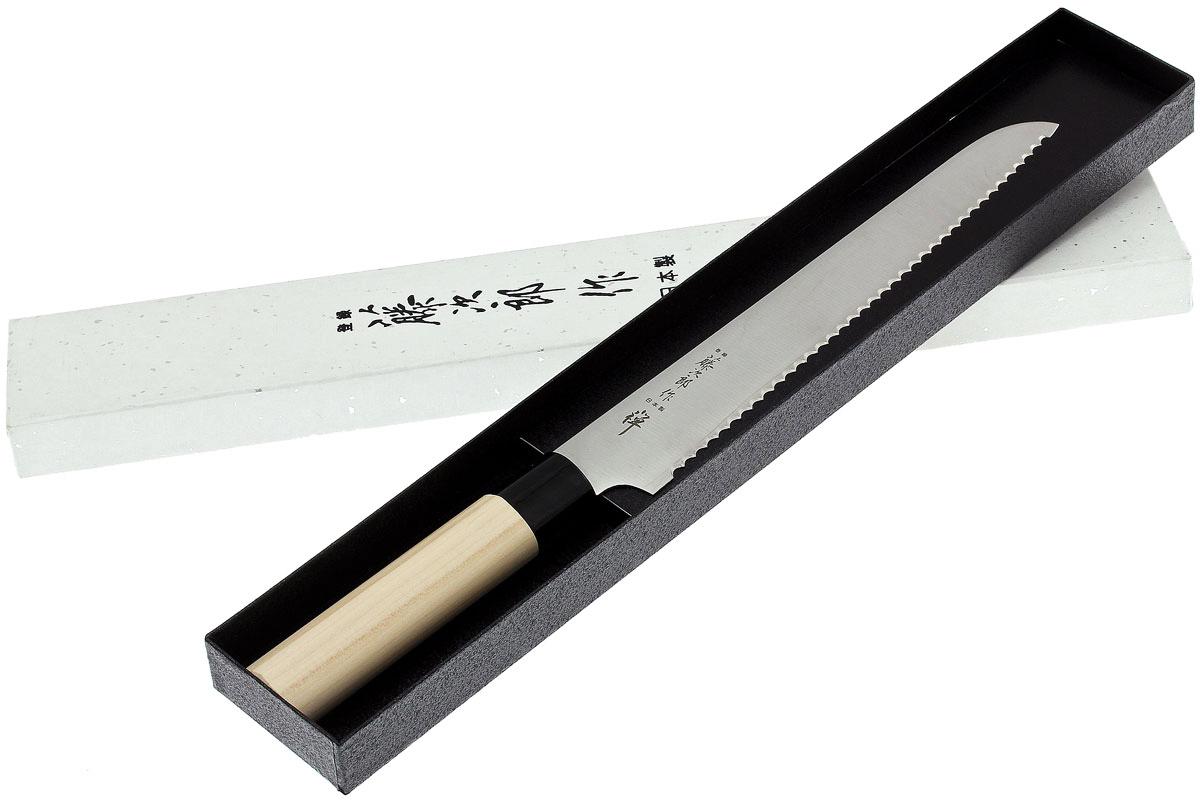 Фото 4 - Кухонный нож для нарезки хлеба, ZEN, Tojiro, FD-559, сталь VG-10, в картонной коробке