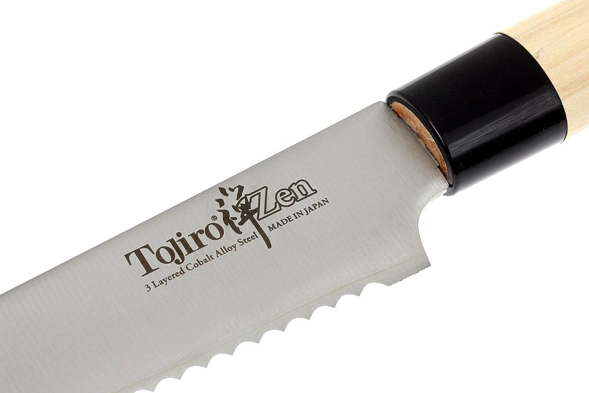 Фото 5 - Кухонный нож для нарезки хлеба, ZEN, Tojiro, FD-559, сталь VG-10, в картонной коробке