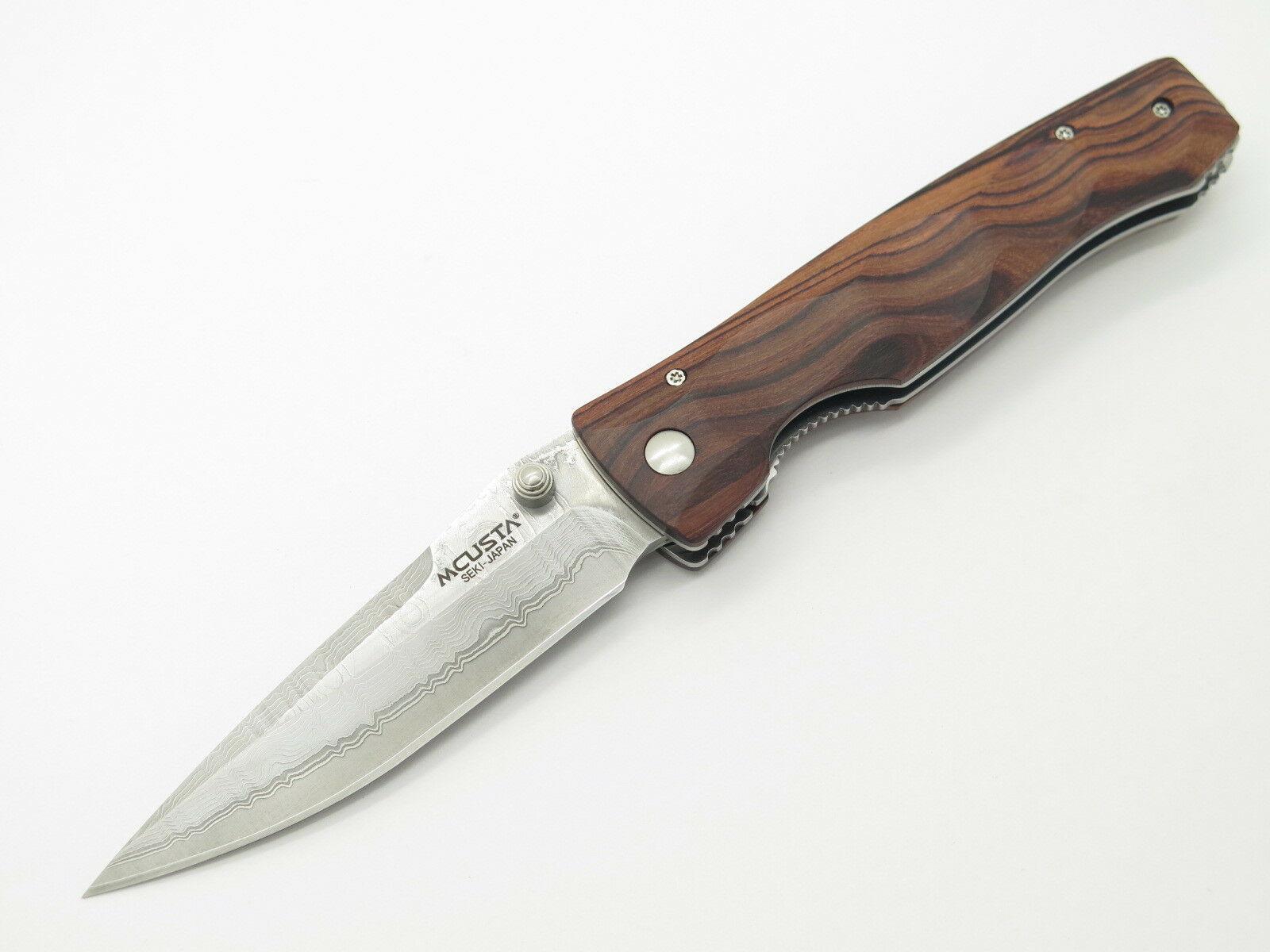 Фото 10 - Складной нож Mcusta Tactility MC-122DR, сталь VG-10 в обкладах из дамаска, рукоять дерево палисандр