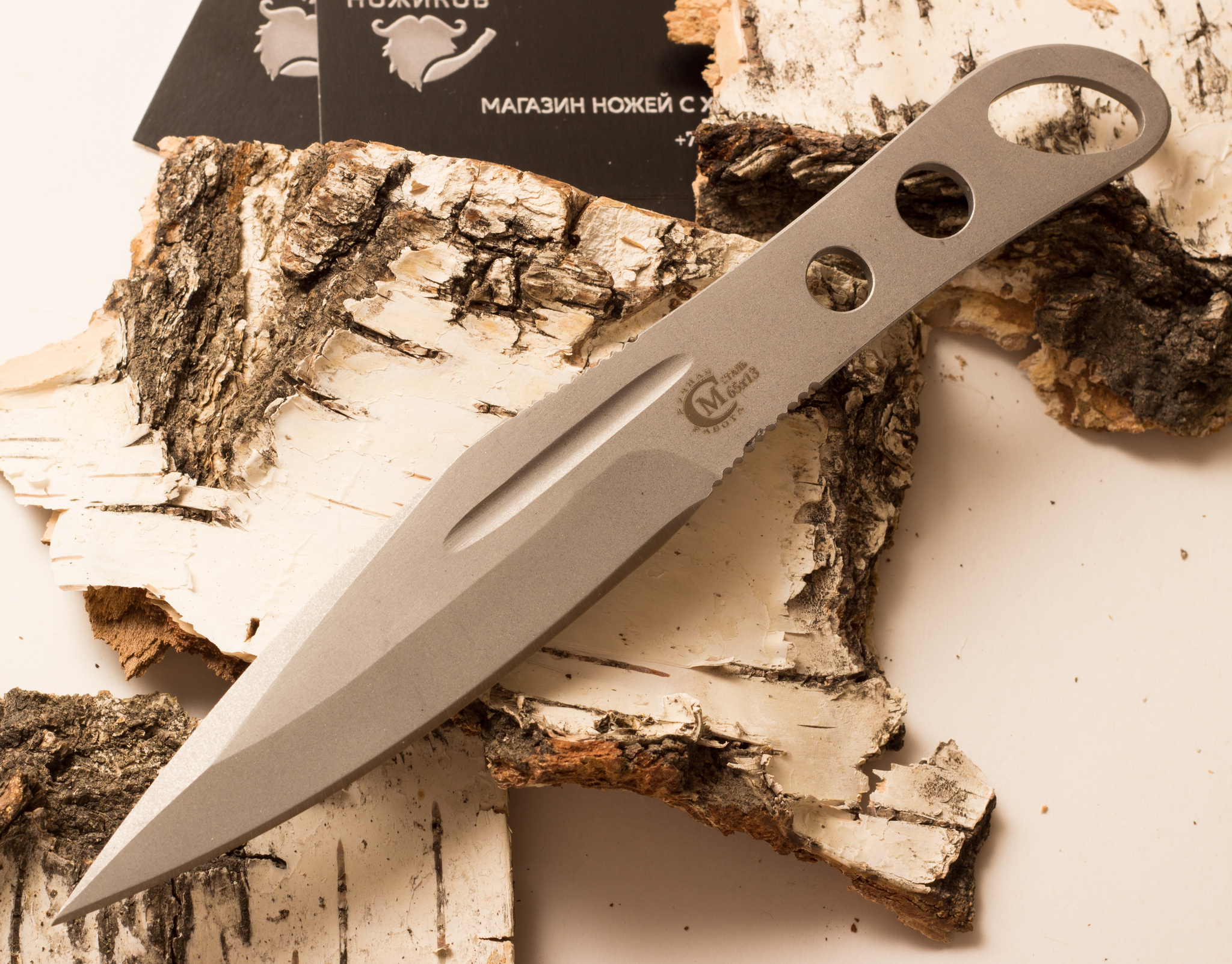 Фото 9 - Нож метательный «Перо», из нержавеющей стали 65х13 от Noname