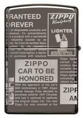 Зажигалка ZIPPO Classic Newsprint Design с покрытием Black Ice®, латунь/сталь, чёрная, глянцевая, 36х12х56 мм, фото 8