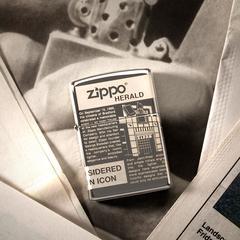 Зажигалка ZIPPO Classic Newsprint Design с покрытием Black Ice®, латунь/сталь, чёрная, глянцевая, 36х12х56 мм, фото 10
