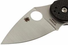 Нож складной Dice - Spyderco C182CFTIP, сталь CTS® XHP Satin Plain, рукоять титан/стеклотекстолит G10/карбон, чёрный, фото 7