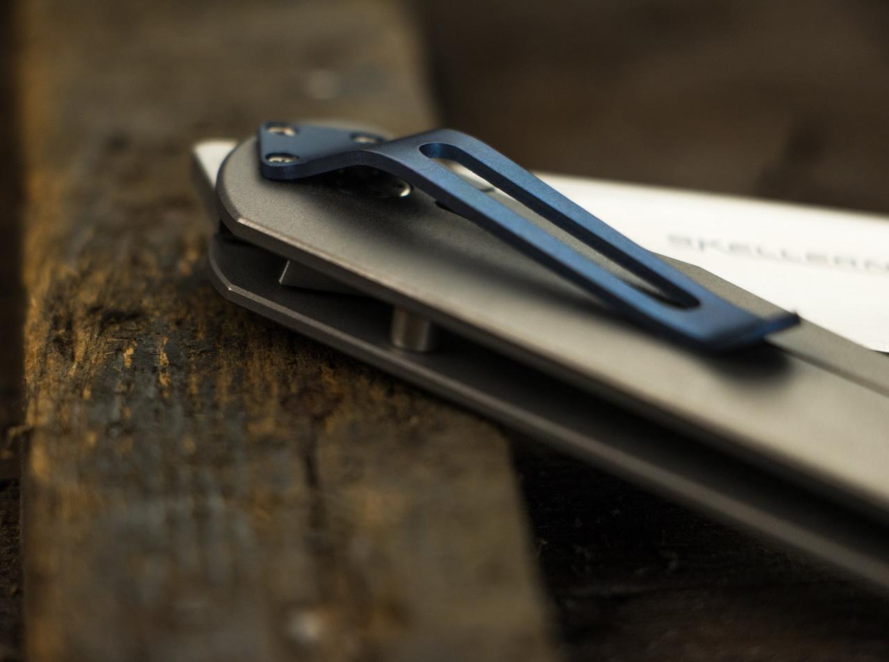 Фото 10 - Складной нож Exskelibur 1 Titanium, Boker Plus 01BO133, сталь CPM-S35VN Satin Plain, рукоять титан, серый