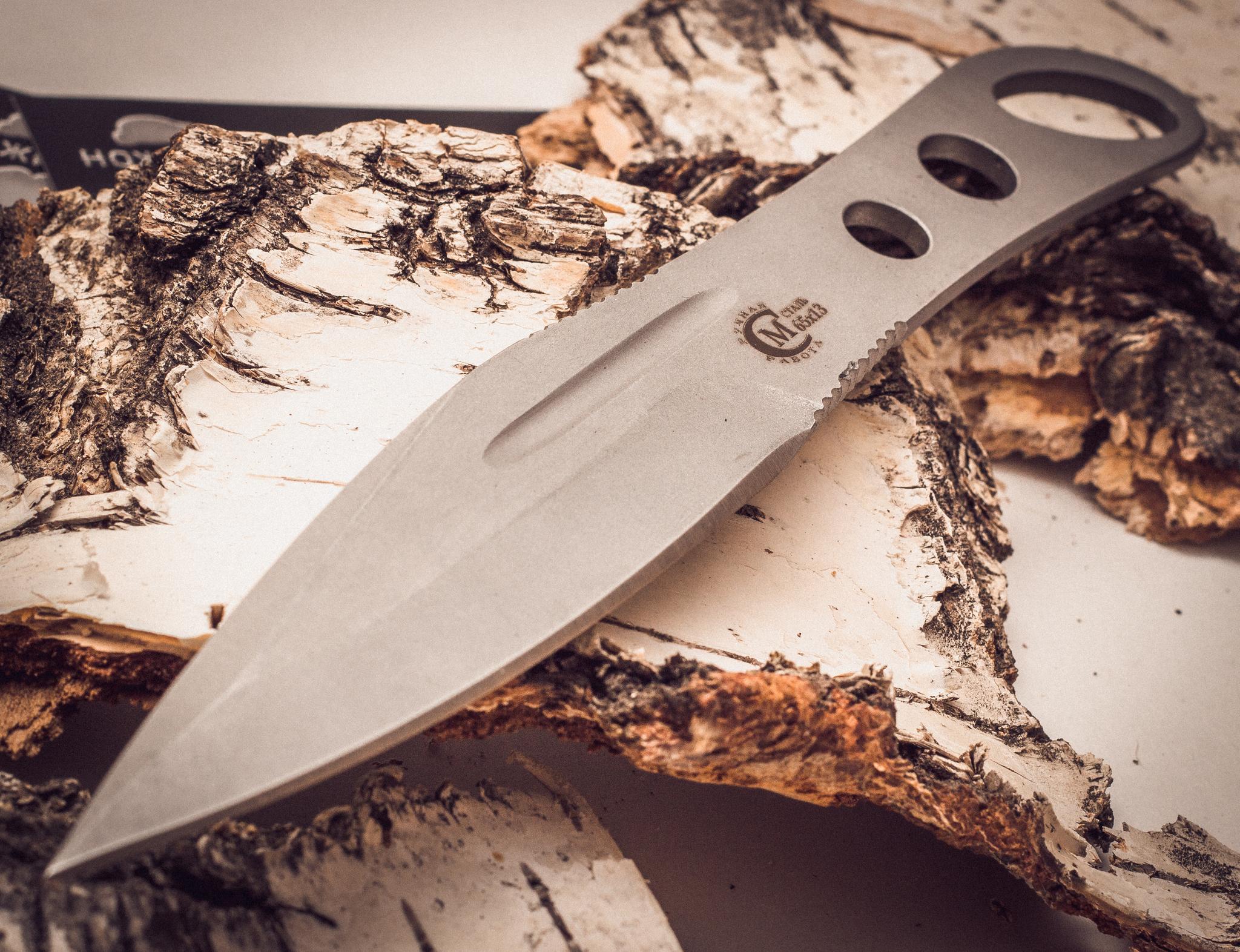 Фото 15 - Нож метательный «Перо», из нержавеющей стали 65х13 от Noname