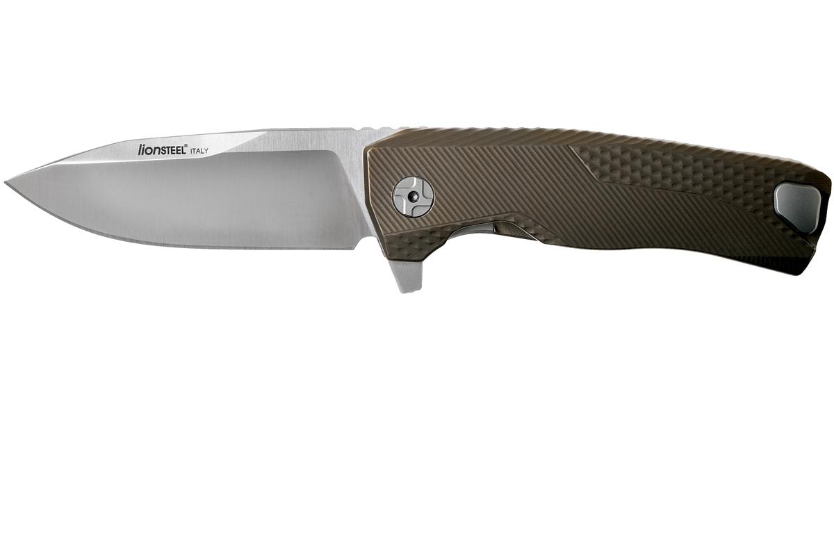 Фото 2 - Нож складной LionSteel ROK B, сталь Bhler M390 Satin Finish, рукоять титан, бронзовый цвет от Lion Steel