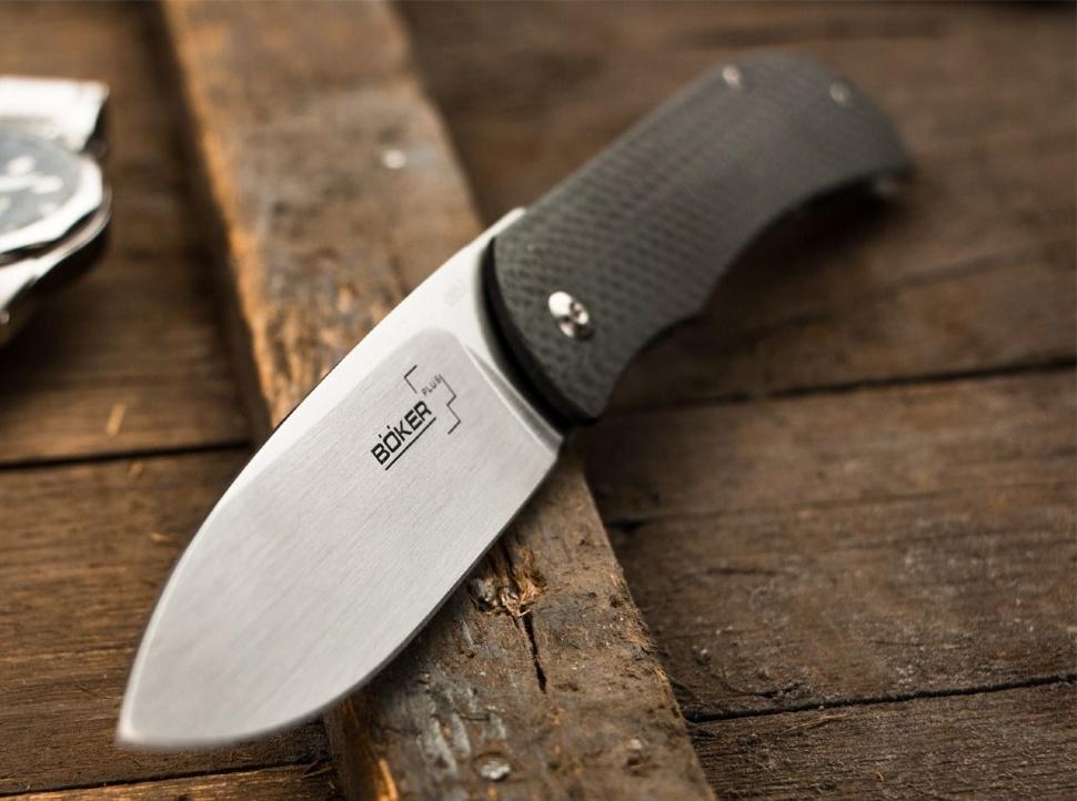 Фото 7 - Складной нож Boker Plus Exskelibur 1, лезвие Stonewashed D2 Tool Steel, Black G-10 рукоять, 01BO137
