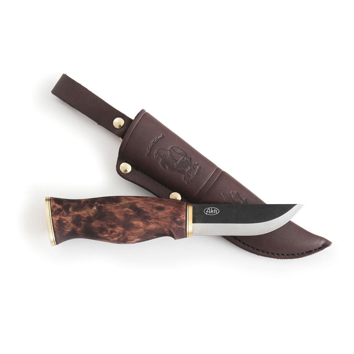 Нож Ahti Puukko Leuku 90, финская береза, сталь W75