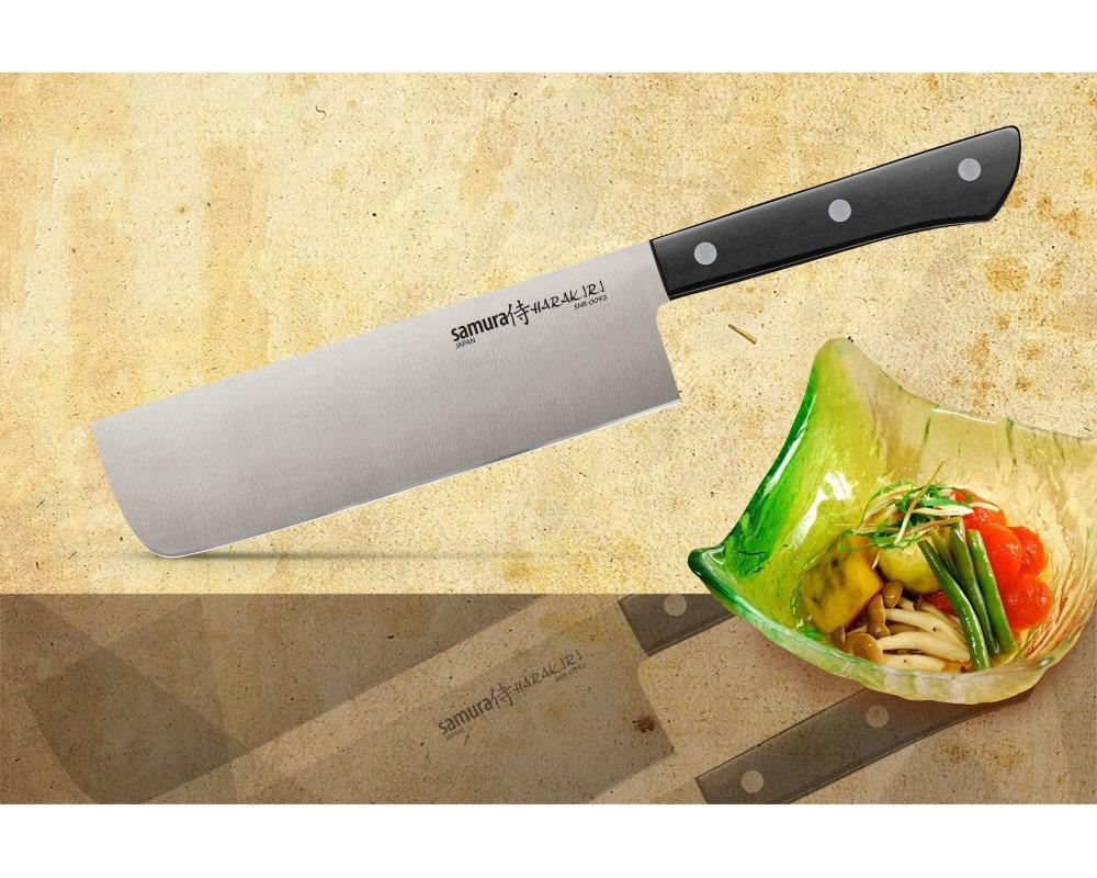 Фото 15 - Нож кухонный овощной накири Samura