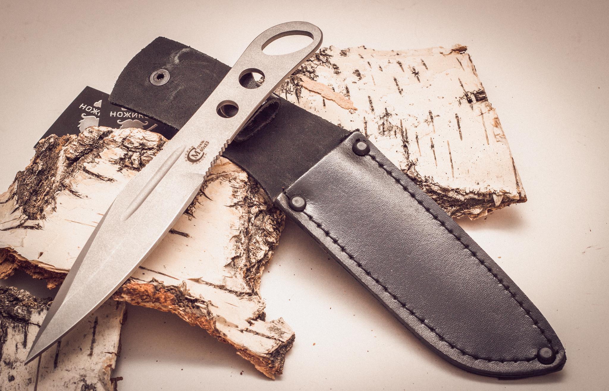 Фото 16 - Нож метательный «Перо», из нержавеющей стали 65х13 от Noname