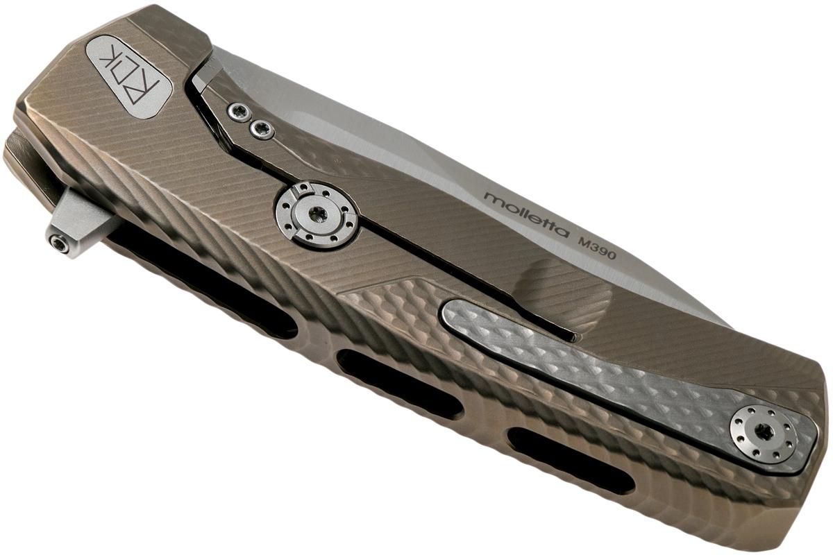 Фото 5 - Нож складной LionSteel ROK B, сталь Bhler M390 Satin Finish, рукоять титан, бронзовый цвет от Lion Steel