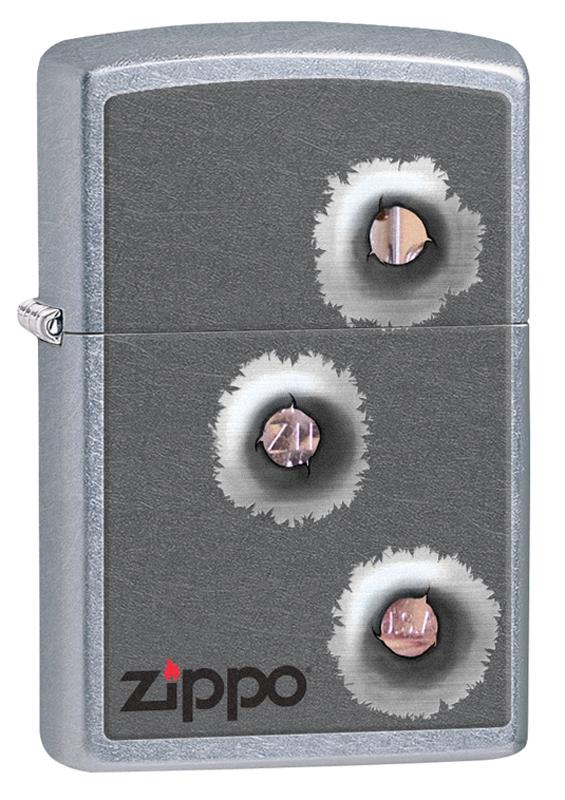 Зажигалка ZIPPO Classic Пуля с покрытием Street Chrome™ зажигалка zippo classic с покрытием meadow™