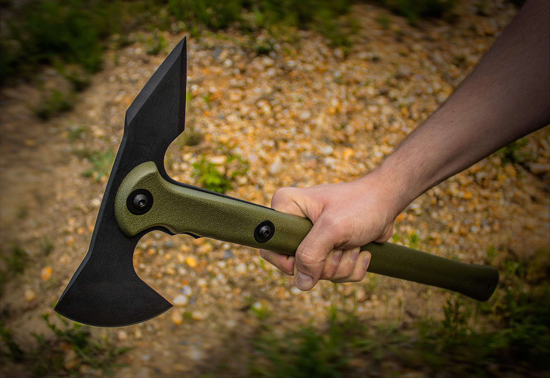 Фото 8 - Топор Trench Hawk OD Green-2 от Cold Steel