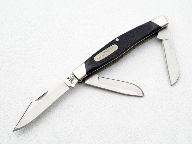 Фото 9 - Нож складной 301 Stockman® - BUCK 0301BKS, сталь 420НС, рукоять пластик Valox®