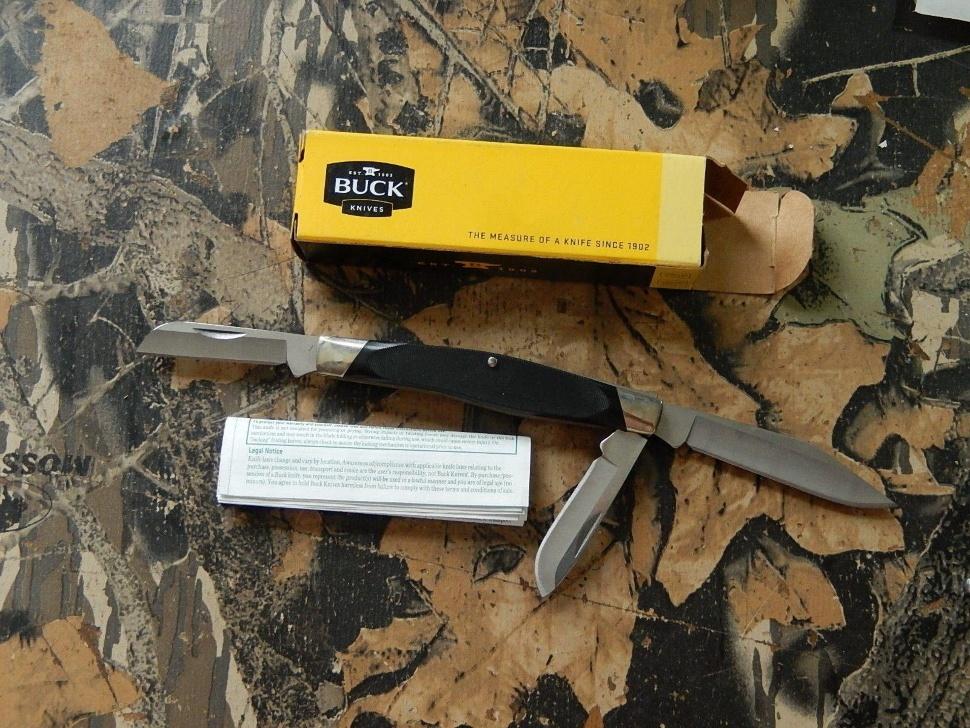 Фото 11 - Нож складной 301 Stockman® - BUCK 0301BKS, сталь 420НС, рукоять пластик Valox®