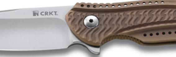 Фото 6 - Складной нож CRKT Ripple Bronze, сталь Acuto 440, рукоять нержавеющая сталь 420J2
