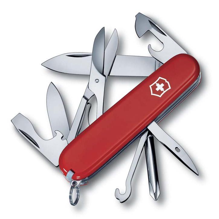 Нож перочинный Victorinox Super Tinker, сталь X55CrMo14, рукоять Cellidor®, красный