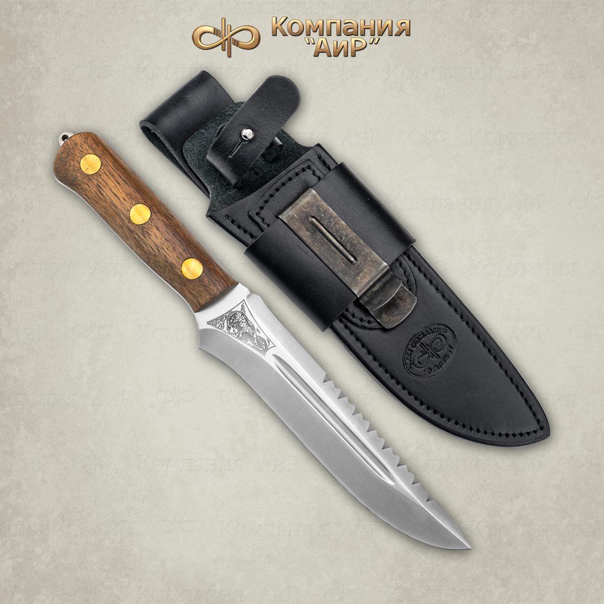 Нож разделочный АиР Ирбис ЦМ, сталь 100х13м, рукоять дерево нож разделочный стриж цм дерево 100х13м аир