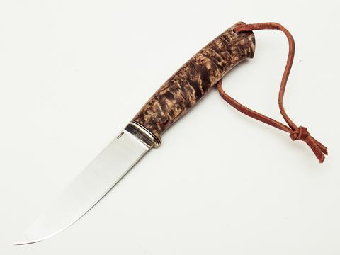 Нож Барбус, сталь Х12МФ, карельская береза - Nozhikov.ru