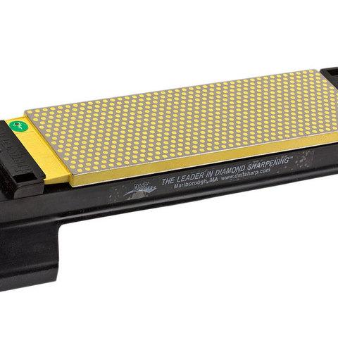 Алмазный брусок двусторонний DMT® Extra Fine / Fine, 1200 mesh, 9 micron / 600 mesh, 25 micron, с подставкой для камня. Вид 2