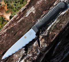 Нож кухонный универсальный Spyderco Utility Knife K05SPBK, сталь MBS-26 Serrated 11.4 см, рукоять полипропилен, чёрный, фото 2