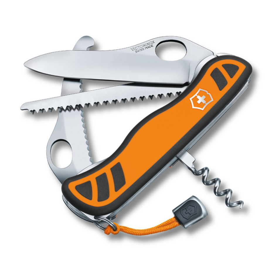 Складной нож Victorinox Hunter XT One Hand, сталь X50CrMoV15, рукоять нейлон, оранжево-черный