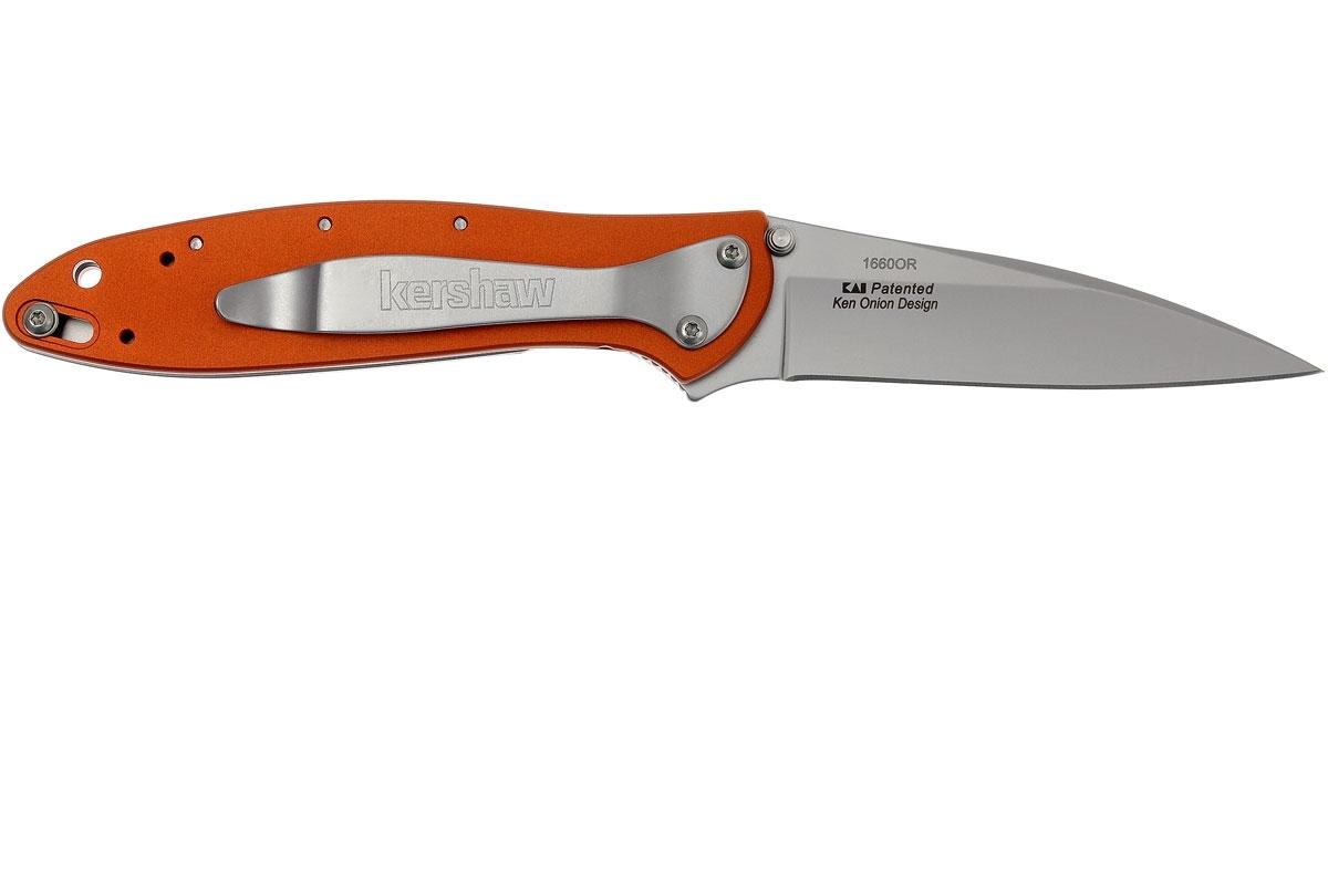 Фото 4 - Складной нож Leek - Kershaw 1660OR, сталь Sandvik™ 14C28N, рукоять анодированный алюминий оранжевого цвета