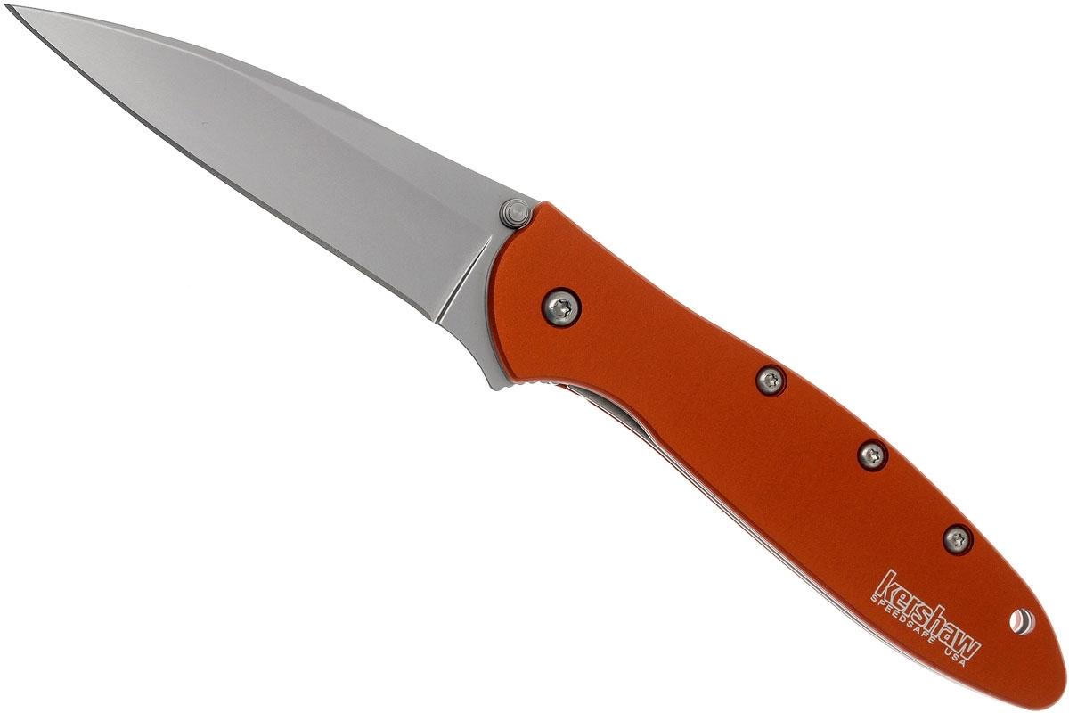 Фото 3 - Складной нож Leek - Kershaw 1660OR, сталь Sandvik™ 14C28N, рукоять анодированный алюминий оранжевого цвета