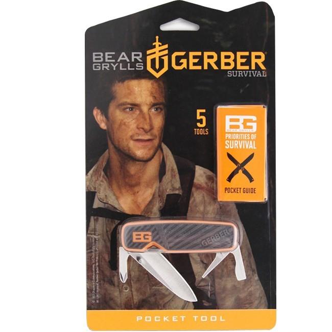Фото 10 - Мультитул Gerber Bear Grylls Pocket Tool, сталь 5Cr15, прорезиненная рукоять от BearGrylls