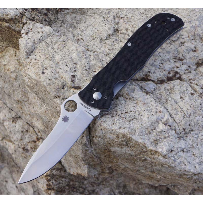 Фото 9 - Нож складной Starmate Spyderco 55GP, сталь VG-10 Satin Plain, рукоять стеклотекстолит G10, чёрный