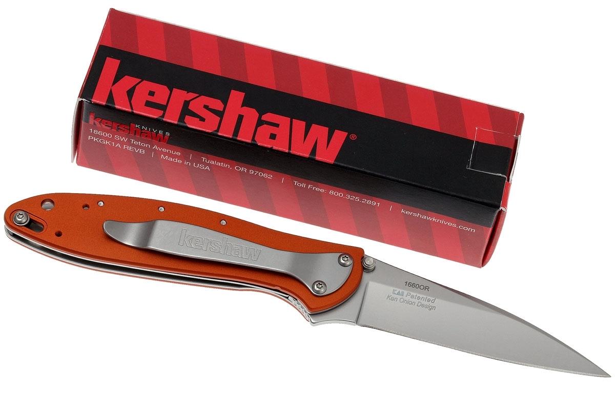 Фото 11 - Складной нож Leek - Kershaw 1660OR, сталь Sandvik™ 14C28N, рукоять анодированный алюминий оранжевого цвета