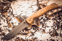 Складной нож Храбрец, сталь 95х18, орех