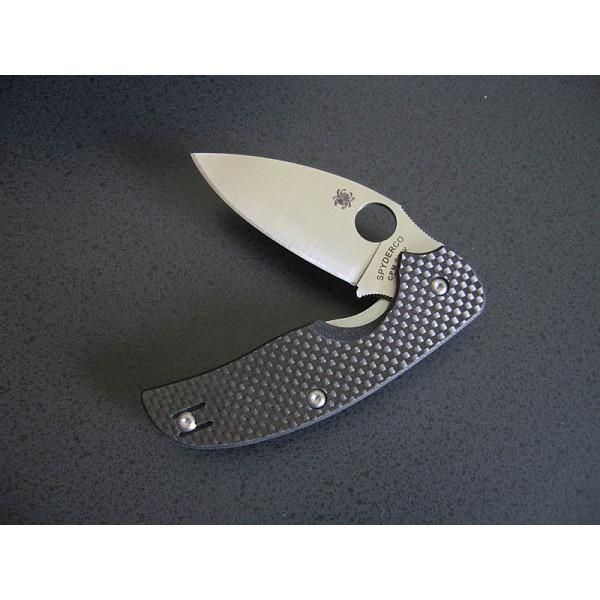 Фото 10 - Нож складной Sage 1 - Spyderco 123CFP, сталь Crucible CPM® S30V™ Satin Plain, рукоять карбон/G10, чёрный
