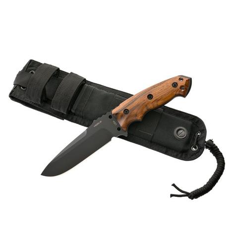 Нож с фиксированным клинком Hogue EX-F01, сталь A2 Tool Steel Black, рукоять дерево кокоболо. Вид 5