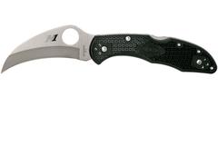 Нож складной Tasman Salt™ 2 Spyderco 106PBK2, сталь H1 Satin Plain, рукоять термопластик FRN, чёрный, фото 6