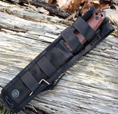 Нож с фиксированным клинком Hogue EX-F01, сталь A2 Tool Steel Black, рукоять дерево кокоболо, фото 8