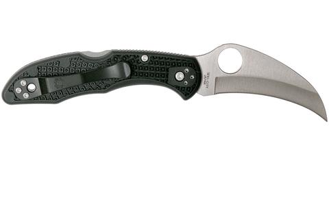 Нож складной Tasman Salt™ 2 Spyderco 106PBK2, сталь H1 Satin Plain, рукоять термопластик FRN, чёрный. Вид 7
