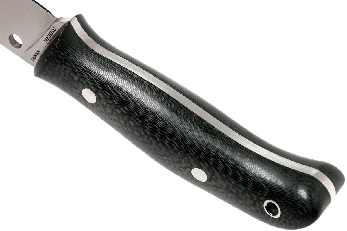 Фото 11 - Нож с фиксированным клинком Proficient Spyderco FB36CFP, сталь Crucible CPM® S90V™ (420V) Satin Plain, рукоять карбон, чёрный