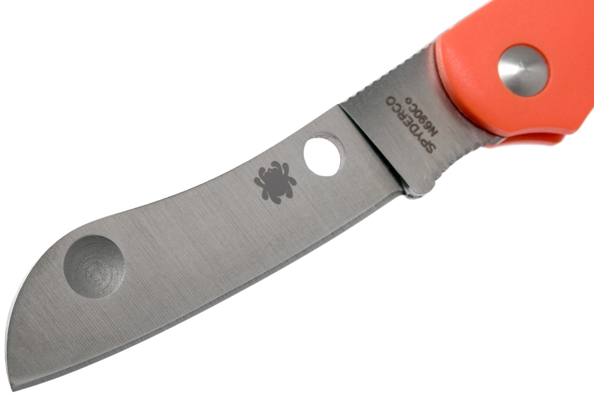 Фото 9 - Нож складной Roadie™ Spyderco 189POR TSA Knife (Transportation Security Administration), сталь N690Co Satin Plain, рукоять термопластик FRN, оранжевый