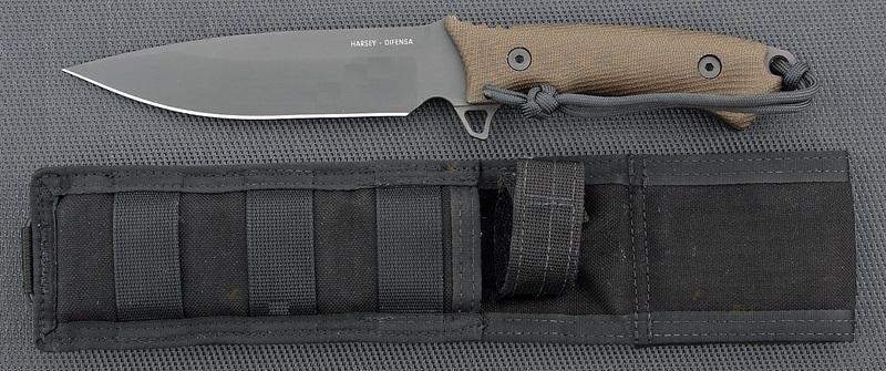 Фото 4 - Нож с фиксированным клинком William Harsey Difensa (Black SpartaCoat/Green Micarta/Black Sheath) 15.9 см. от Spartan Blades