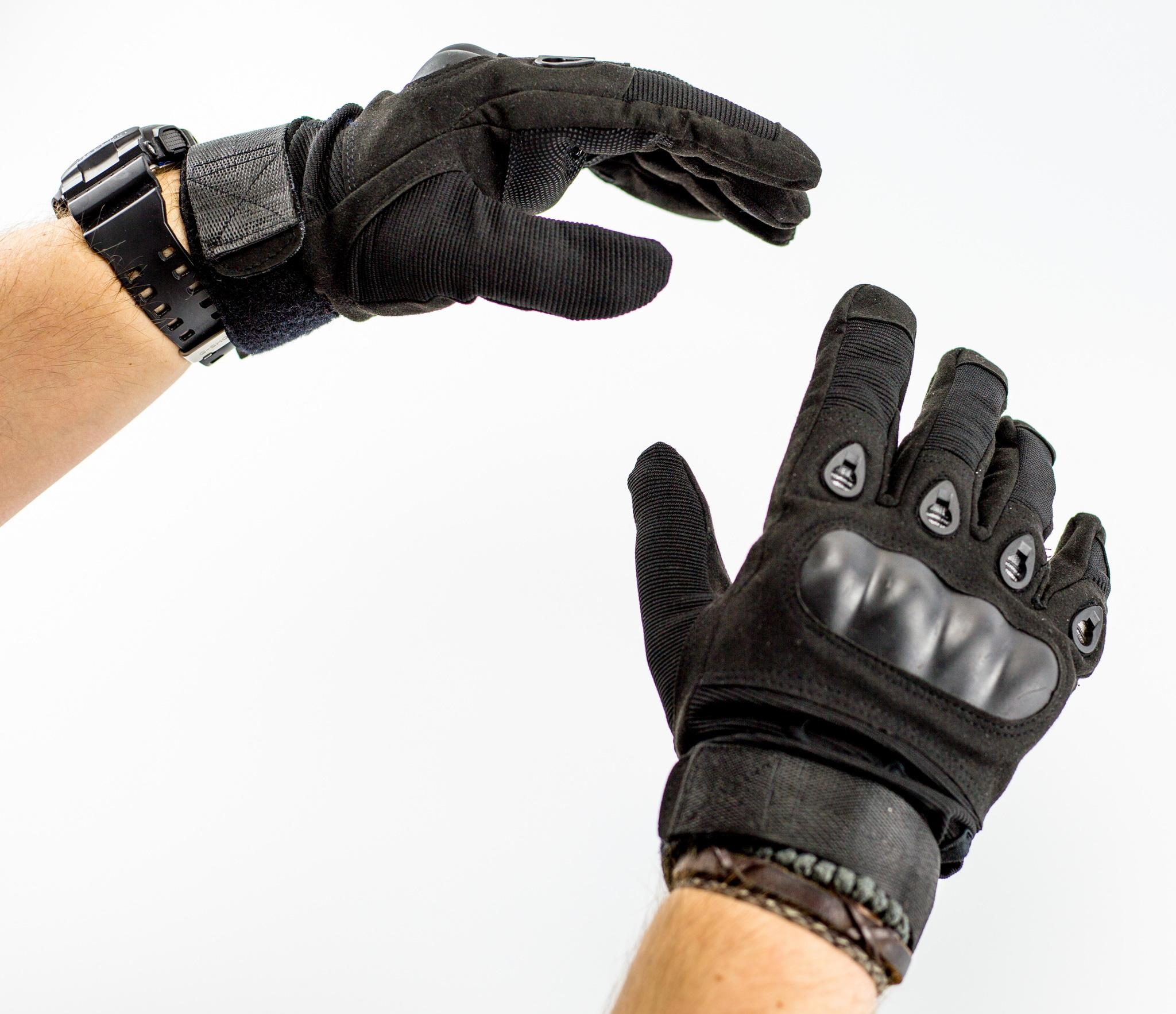Тактические перчатки, черные от China Factory