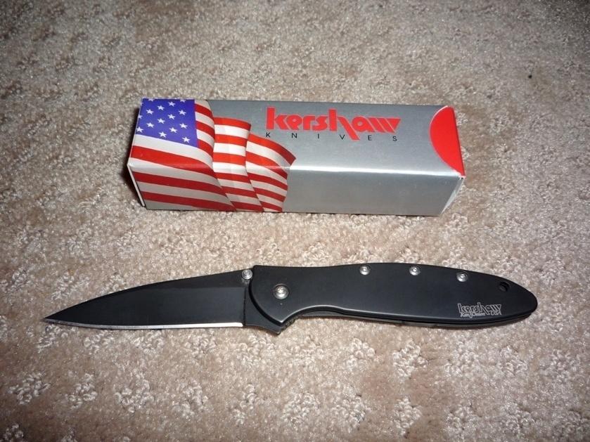 Фото 9 - Складной нож Leek - KERSHAW 1660CKT, сталь Sandvik™ 14C28N с покрытием DLC, рукоять нержавеющая сталь 410, чёрный