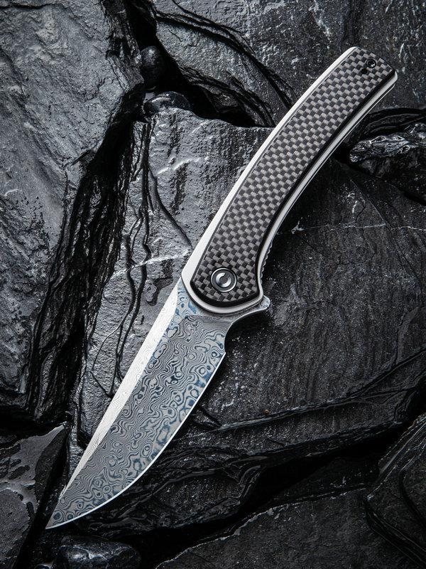 Складной нож CIVIVI Asticus carbon, Damascus