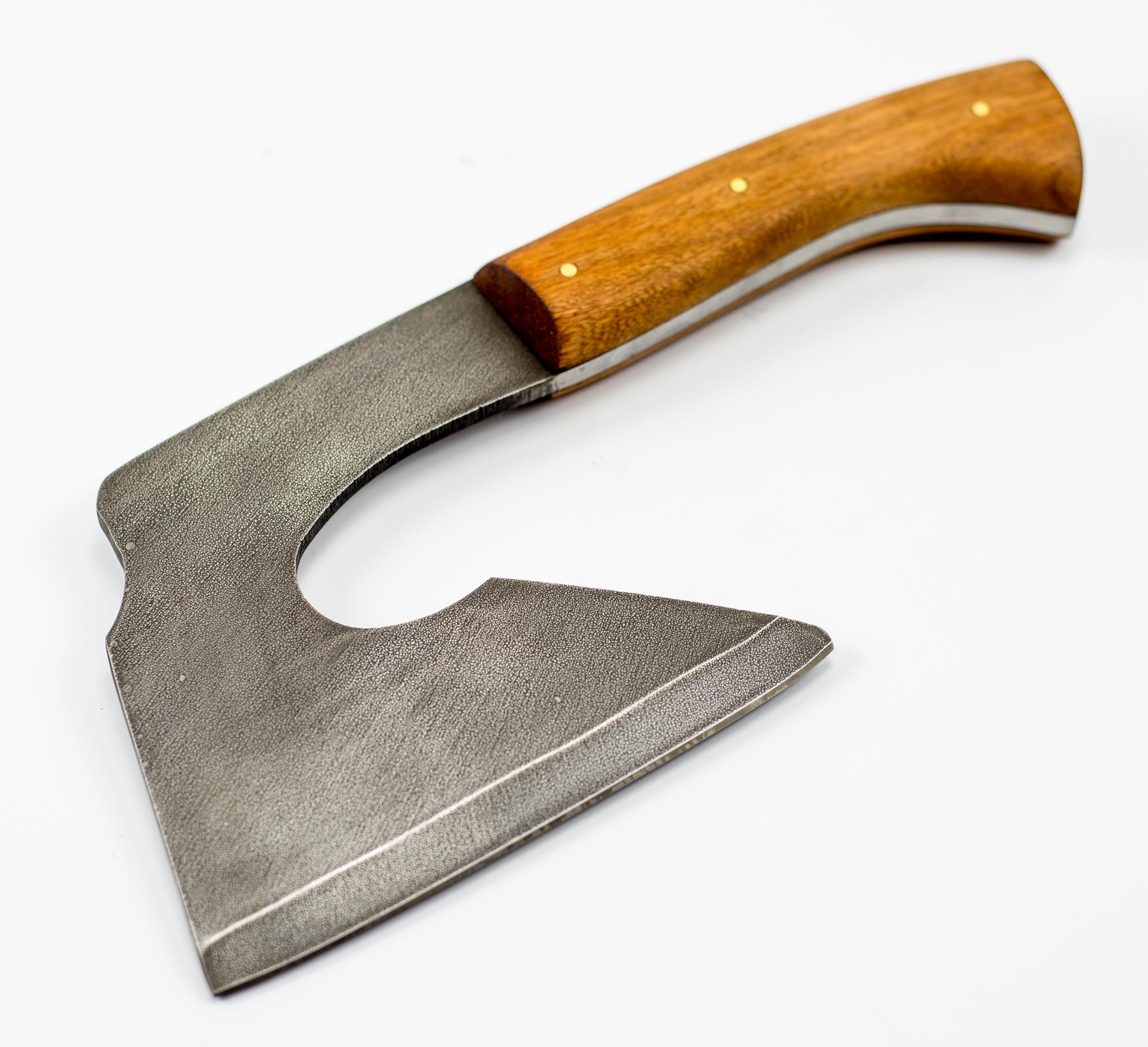 Тяпка малая, сталь 9ХС, орех