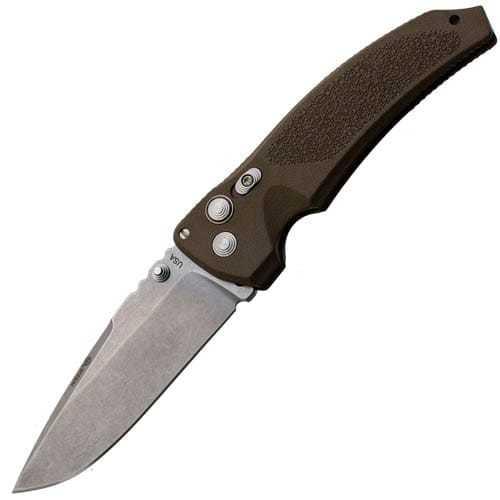 Купить Складной нож EX-03 Stone-Tumbled Drop Point Blade, Matte Brown Handle от Hogue в России