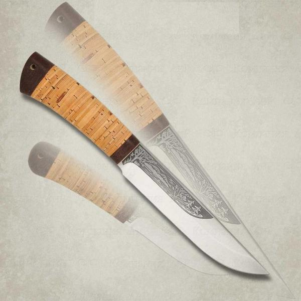 Нож разделочный Шашлычный-сред. береста, 95х18