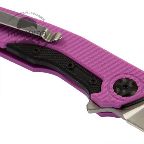Складной нож Nimo Proletarian, сталь 9Cr18MoV, розовый. Вид 5