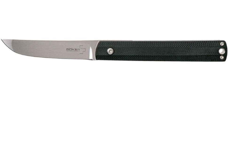 Фото 9 - Складной нож Wasabi G10 - Boker Plus 01BO630, лезвие сталь 440C Satin, рукоять стеклотекстолит G-10, чёрный
