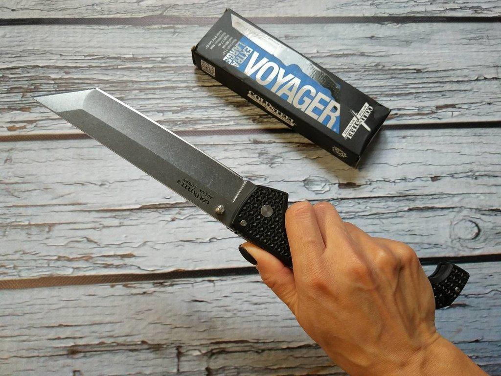 Фото 9 - Складной нож Cold Steel Voyager XL Tanto 29AXT, сталь Aus 10A, рукоять пластик